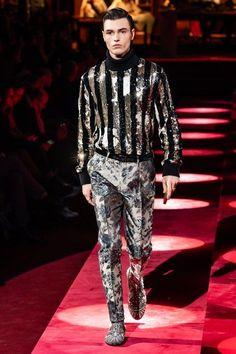 Men's striped runway sweater