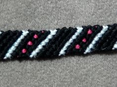 ► Friendship Bracelet Tutorial 13 - Beginner - Stripes & Dots