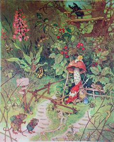The faeries, gnomes and woodland creatures of German illustrator, Fritz Baumgarten Baumgarten, Mushroom Art, Photo D Art, Woodland Creatures, Fairy Art, Children's Book Illustration, Book Illustrations, Faeries, Illustrators