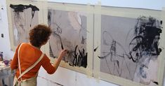 Por amor al arte: Krista Harris Painting Inspiration, Art Inspo, Atelier Photo, Modern Art, Contemporary Art, Art Techniques, Art Studios, Artist At Work, Oeuvre D'art