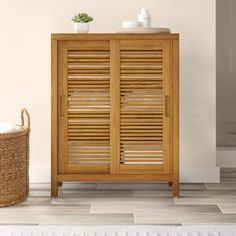 New Ayden 26 W x 33 H Cabinet by Dotted Line? Fashion is a popular style Bathroom Standing Cabinet, Bathroom Cabinets, Cabinet Shelving, Tall Cabinet Storage, Shelves, Cabinet Doors, Bamboo Cabinets, How To Fold Towels, Linen Cabinet