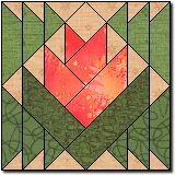 Desert Flower - free paper piecing pattern at Quilters Cache