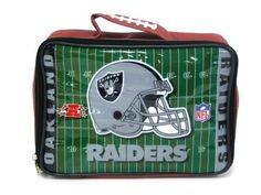 Oakland Raiders Team Logo Lunch Bag by Pro Specialties. $12.99. Item Z151770 by Pro Specialties Group in category NFL > Oakland Raiders. 6.57E+11. NFL Oakland Raiders Team Logo Lunch Bag