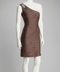 Take a look at this Mocha Wave Asymmetrical Dress by Festivities Await: Women's Apparel on #zulily today!