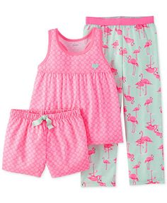 - Carter's Little Girls' Floral Flamingo Pajamas Baby Outfits, Kids Outfits, Toddler Fashion, Girl Fashion, Carters Baby Clothes, Kids Nightwear, Carter Kids, Little Baby Girl, Girls Pajamas