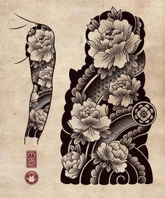 old school frases japoneses tattoo Japanese Tiger Tattoo, Japanese Flower Tattoo, Japanese Tattoo Designs, Japanese Sleeve Tattoos, Tatuajes Irezumi, Irezumi Tattoos, Flower Tattoo Drawings, Tattoo Design Drawings, Geisha Tattoos