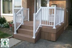 front porch pergola ideas | This deck plan is for a small entry way porch at the front door. The ...