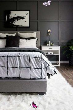 A Monochrome Modern Bedroom Reveal | DIY Room Makeover! <br>