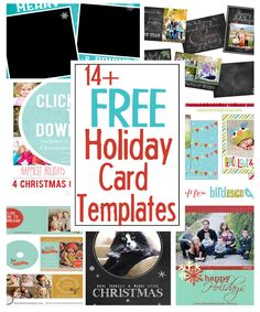 DIY Holiday Postcards + 14 Free Holiday Card Templates | Scattered Thoughts of a Crafty Mom