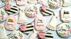 Wedding Cookies! - Love Bug Cakes and Cookies