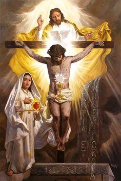 Last vision of St. Lucia of Fatima.
