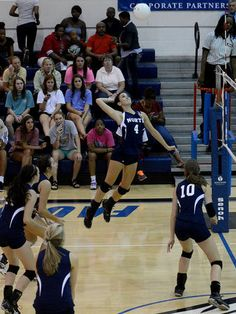 North's Taylor Lybarger spikes the ball during the AHSAA All Star volleyball game Thursday, July 18, 2013, at Faulkner University in Montgomery, Ala