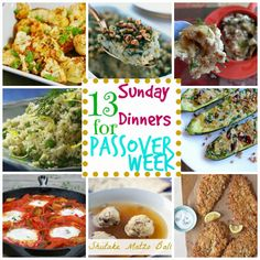 Passover Week Meals