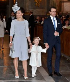 Crown Princess Victoria wore a new dress from Filippa K paired with a Philip Treacy hat