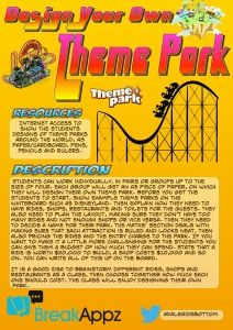 Design your own theme park and other activities