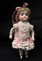 "Tiny Silk Dress for 4 1/4 "" Antique Doll Mignonette All Bisque Kestner Dollhouse"