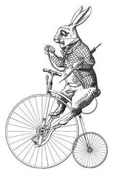 Vintage Tattoo Illustration Alice In Wonderland 16 Super Ideas Vintage Prints, Vintage Art, Alice In Wonderland Rabbit, Alice Rabbit, Lapin Art, Images Vintage, Adventures In Wonderland, Vintage Ephemera, Art Drawings