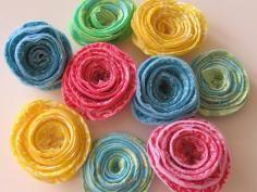 DIY Tutorial DIY Crochet Flowers / : Rolled Rose - Crocheted Flower - Bead&Cord