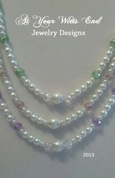 3+Strand+Necklace+Pearl+Necklace+Easter+Jewelry+by+AtYourWittsEnd,+$40.00
