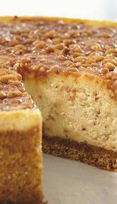 English Toffee Cheesecake - Cocina Adicto