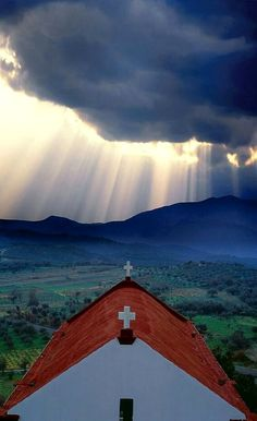 Divine light over a small chapel in Crete Island, Greece | Jim Zuckerman Photography