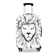 Poetic King  Poetic Flamingo  #luggage #cover #art #boho #bohochic #forudesign #loujah