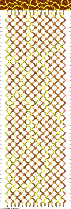 Giraffe Spots Bracelet Pattern. I want to do this with blue and purple so it can look like Sully from Monsters Inc.