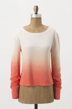 Dyed Tulip Sweatshirt  by anthropologie.com #Sweatshirt #Ombre #anthropologie