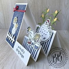 Hand Made Greeting Cards, Making Greeting Cards, Fancy Fold Cards, Folded Cards, Side Step Card, Step Cards, Hand Stamped Cards, Card Making Techniques, Stamping Up Cards