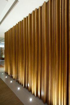 vertical wooden walls