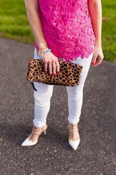 leopard clutch // LipglossandLabels.com