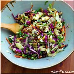 This fall-inspired coleslaw has toasty walnuts and apples!