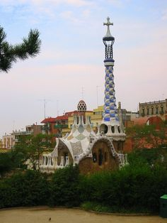 Spain. Barcelona made colorful by Gaudi's architecture.