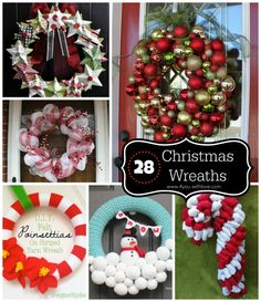 A roundup of 28 Christmas Wreaths you can make to adorn your home this holiday season!