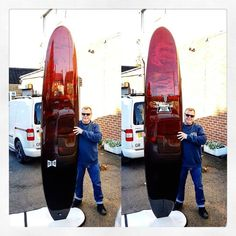This is Ed from @rockersdeluxe collecting a 9'4 Pig Rod. He's not much of a smiler Ed so you'll have to take my word for it that this is his happy face  #visionary #rockersdeluxe #custommade #surfboards #surfboard #longboard #log #pigsurfboard #resintint #resinart #eastcoastsurf #madeinengland http://ift.tt/19MEsb6
