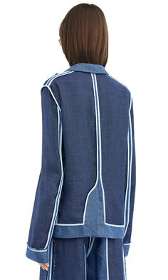 Acne Studios Woody linen denim Graphic jacket