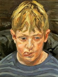 Albie, 2004 by Lucian Freud. Expressionism. portrait. Private Collection