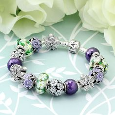 PANDORA Spring's in Bloom Charm Bracelet