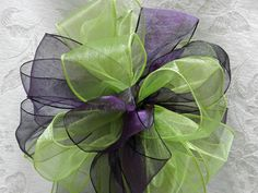 Green Lime Purple And Turquoise Wedding | Eggplant Purple and Lime Green Wedding/ Pew by creativelycarole