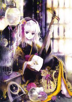 Anime Girl with Blonde Hair and kimono | Dress-Cats-Animals-Anime-White-Hair-Purple-Eyes-Anime-Girls-Fresh-New ...