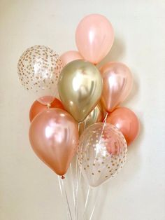Rose Gold Coral & Chrome Gold Confetti Latex Balloons~First Birthday~Wedding~Bridal Shower~Rose Gold Balloon~Coral Balloons~Coral Rose Gold - Birthday Month Gold First Birthday, Gold Birthday Party, Gold Party, Birthday Balloons, Birthday Month, Birthday Ideas, Coral Y Oro, Rosa Coral, Coral Pink