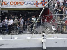 Daytona crash sends car parts flying, injuring fans - CBS News