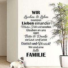 Wandaro® W3301 Wandtattoo Wir sind eine Familie... schwarz 58x90cm