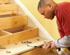to Repair Squeaky Stairs What house doesn't have squeaky steps?What house doesn't have squeaky steps? Home Renovation, Home Remodeling, Basement Renovations, Stairs Repair, Squeaky Floors, What House, Wood Stairs, Laminate Stairs, Diy Home Repair