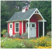 Free Plans - Schoolhouse Style Storage Shed