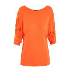 T-shirt orange - Morgan Shopping, Orange, Sweaters, T Shirt, Fashion, Womens Fashion, Moda, Tee Shirt, Fashion Styles