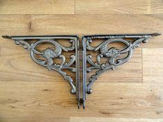 Pair of Victorian style Fish shelf brackets £32.00