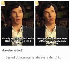 Ben nailing that Sherlock reference. Seriously, like his face is so serious yet what he says is so funny, I'm dying.