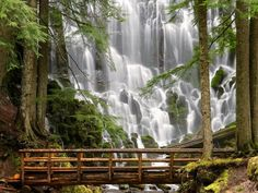 Ramona Falls on the west side of Mount Hood, Oregon, United States