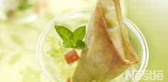 Samosa de queso de cabra y pesto #recetas #nestlecocina
